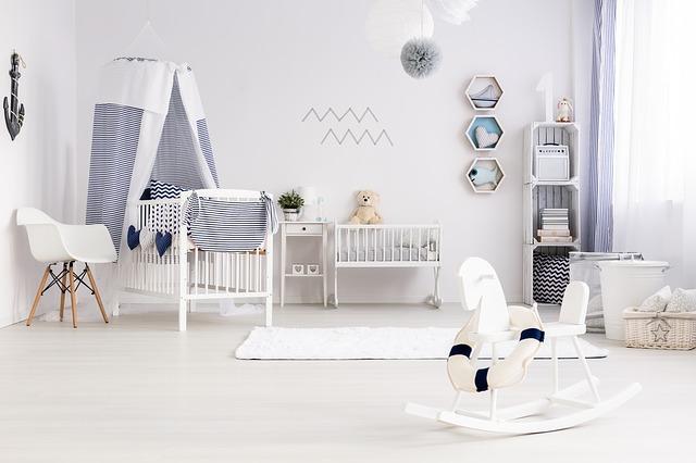 čistý dětský pokoj