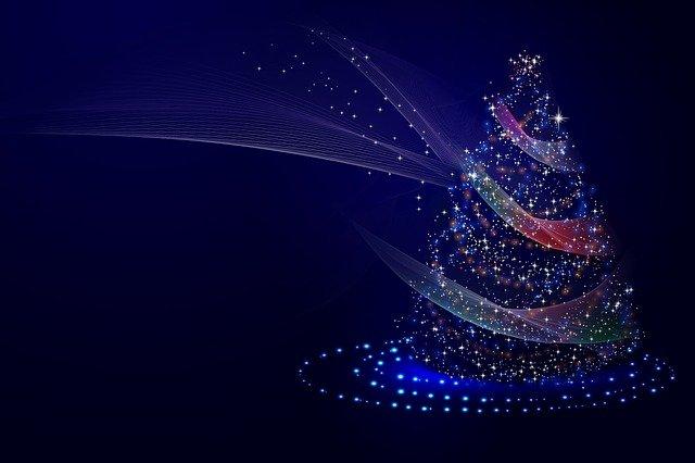 vánoční stromek ze světýlek