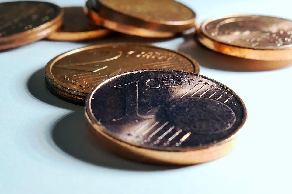 jednocentové mince